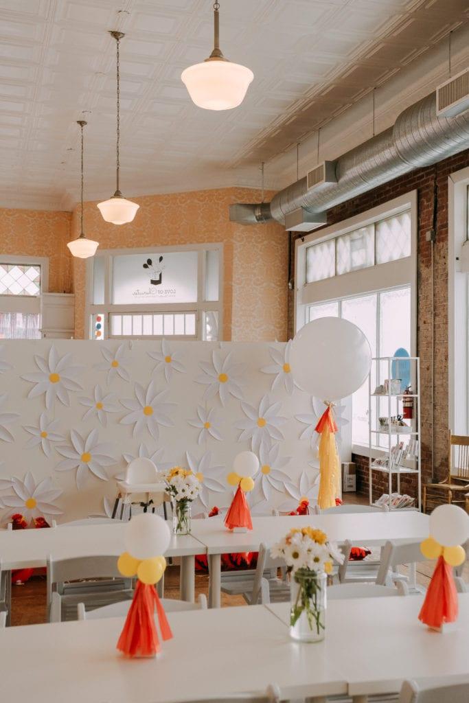 Chicken birthday party decor