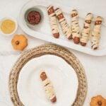 crescent roll wrapped hotdog mummies