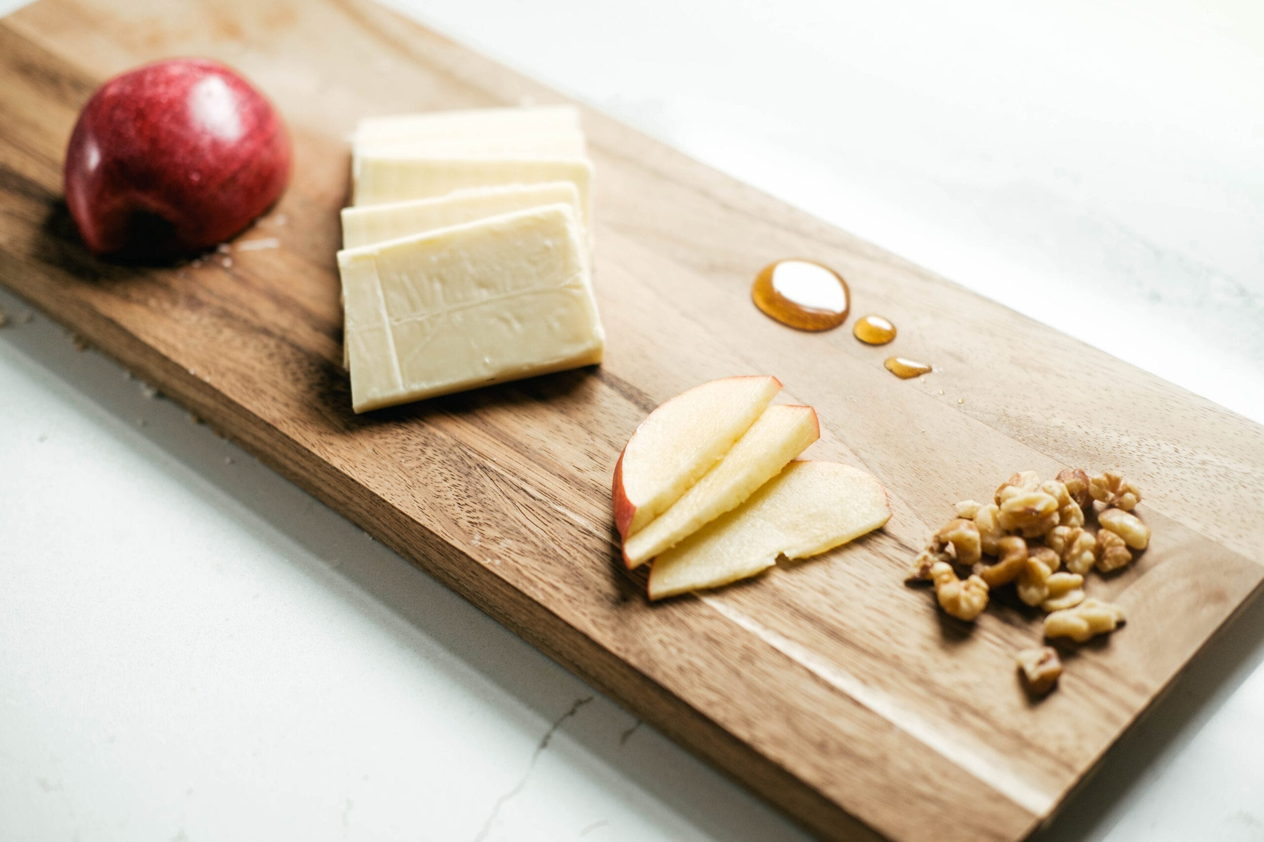 ingredients lined up on cutting board