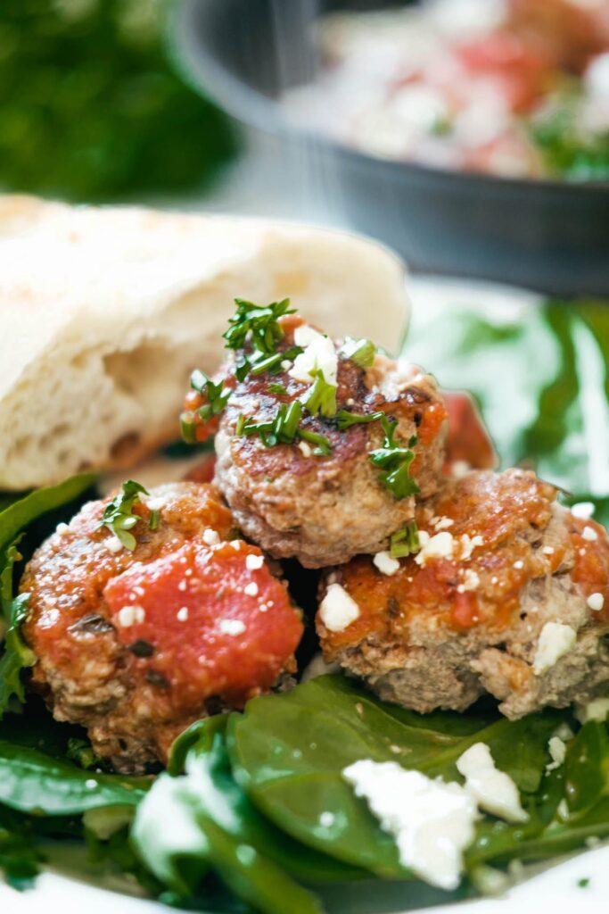 3 bruschetta turkey meatballs