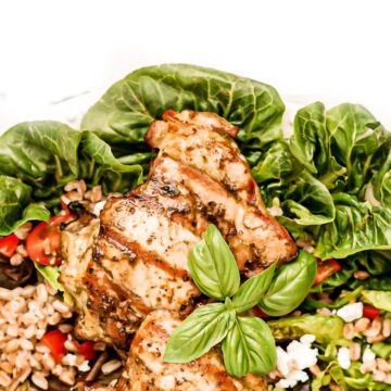 basil balsamic chicken thigh
