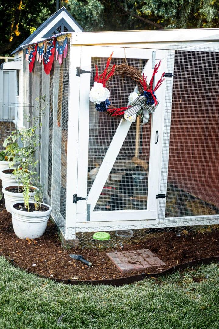 patriotic chicken coop