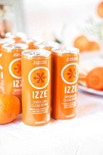 izze brand sparkling water clementine flavor