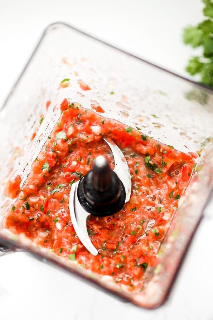 blended garden salsa