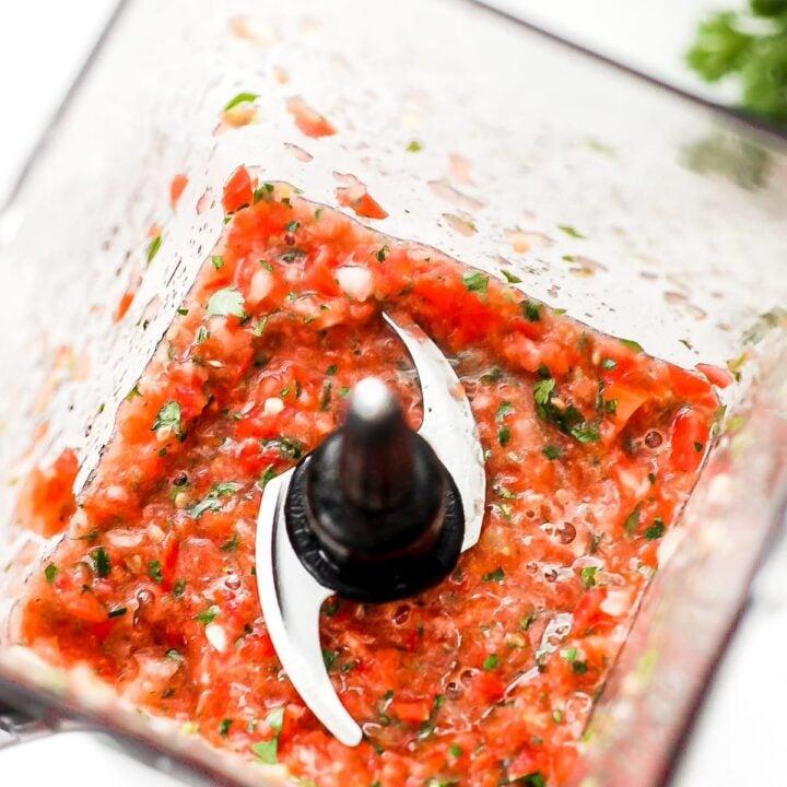 fresh salsa in blender
