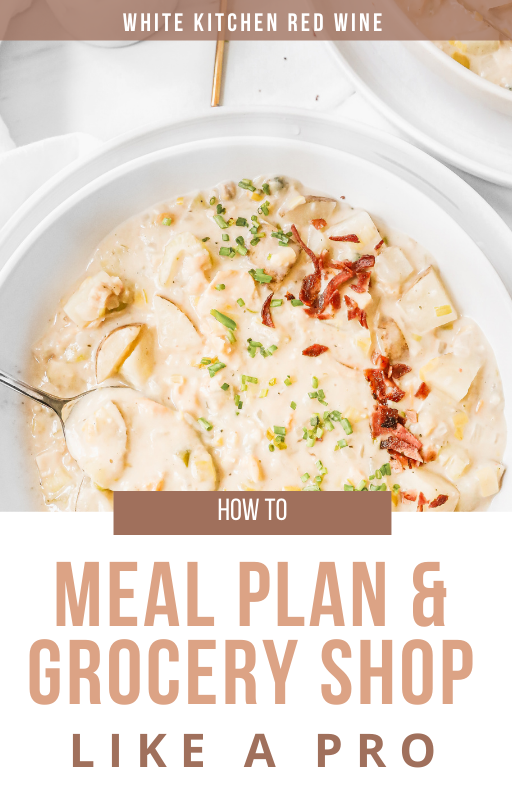 how to menu plan and grocery shop ebook cover