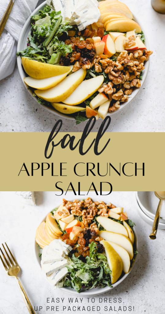fall apple crunch salad pin