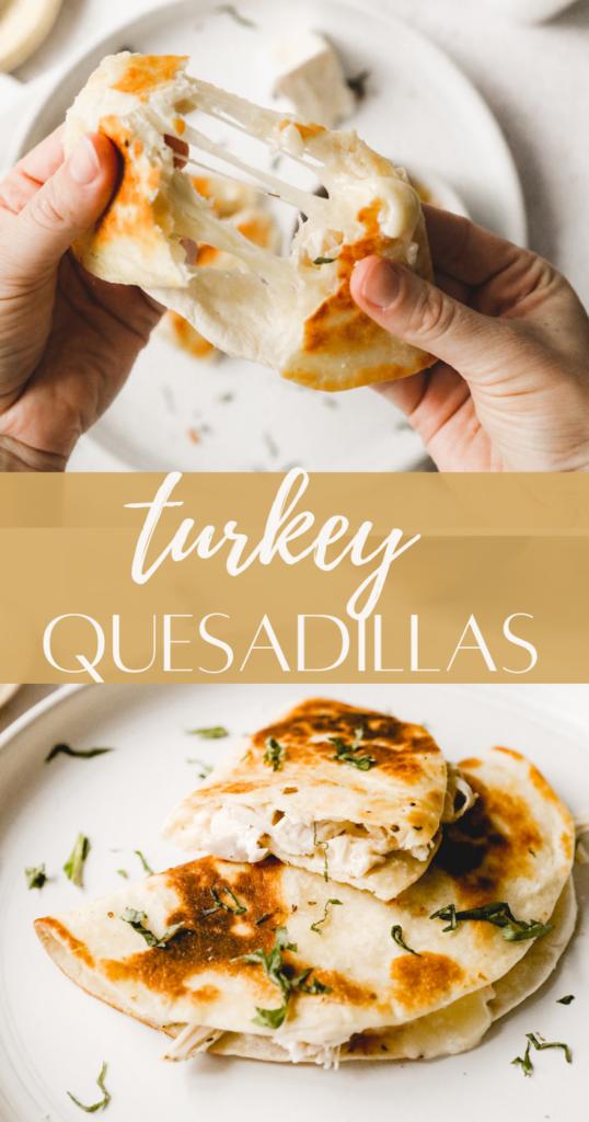 turkey quesadilla pin image