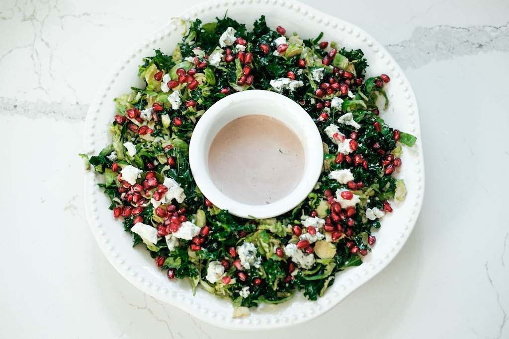Kale and Brussels Wreath Salad
