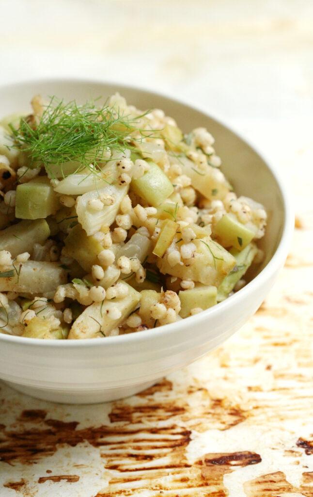 Warm Sorghum Salad with Kohlrabi