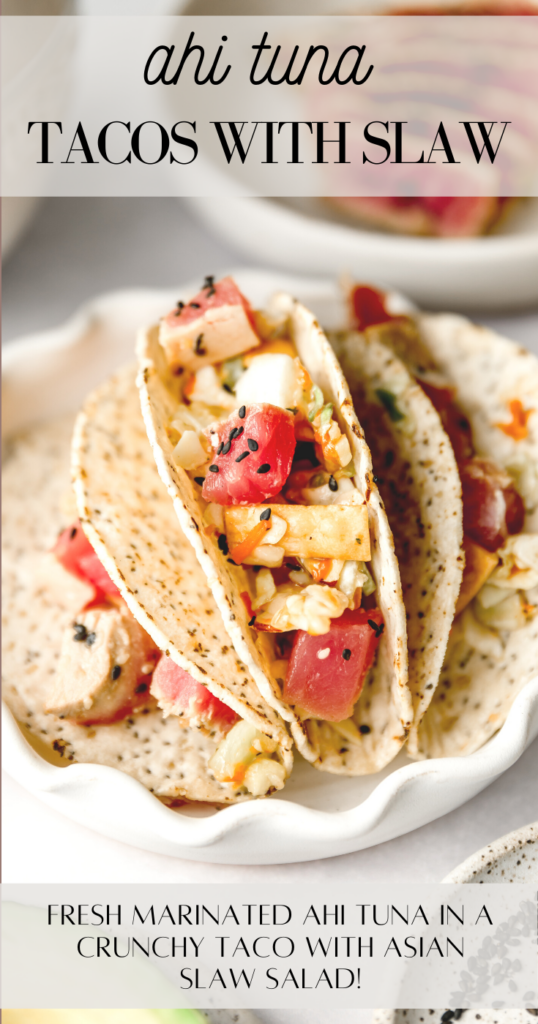 ahi tacos pin image