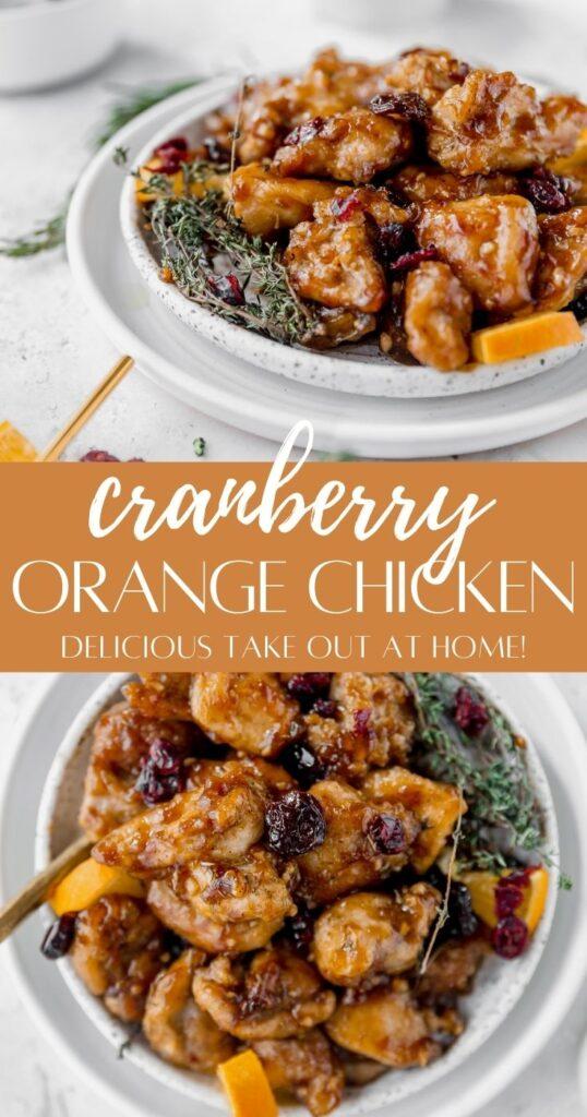 pinterest pin for cranberry orange chicken