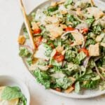 bowl of fattoush salad