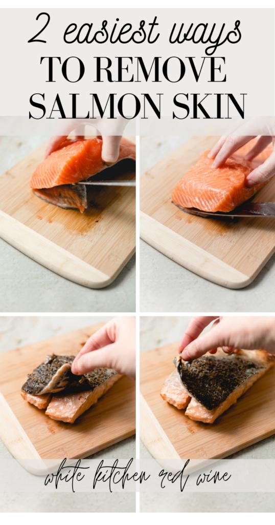 ways to remove salmon skin pin image