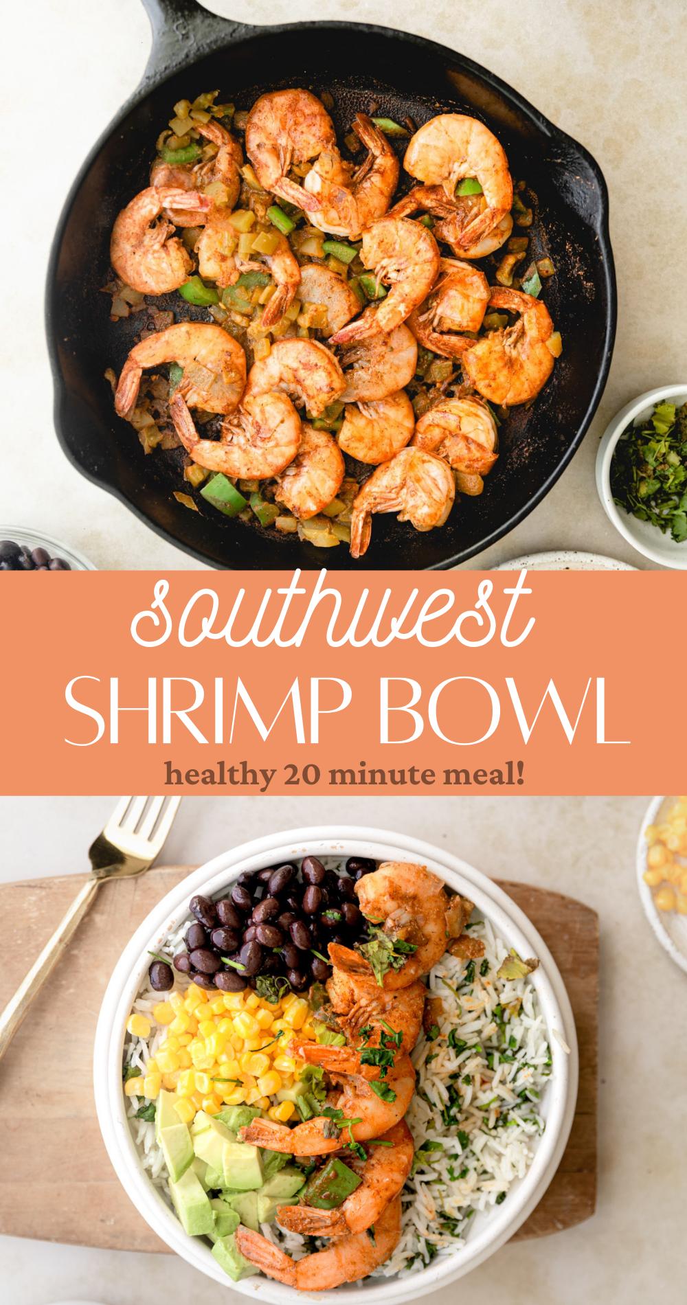 southwest shrimp bowl pin image