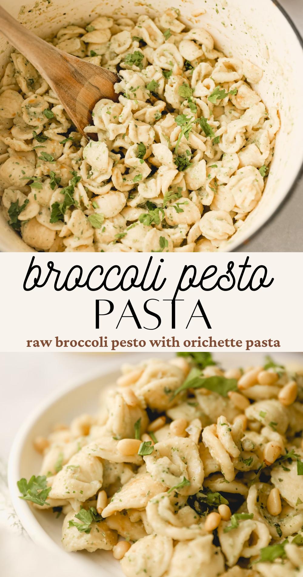 broccoli pesto pasta pin