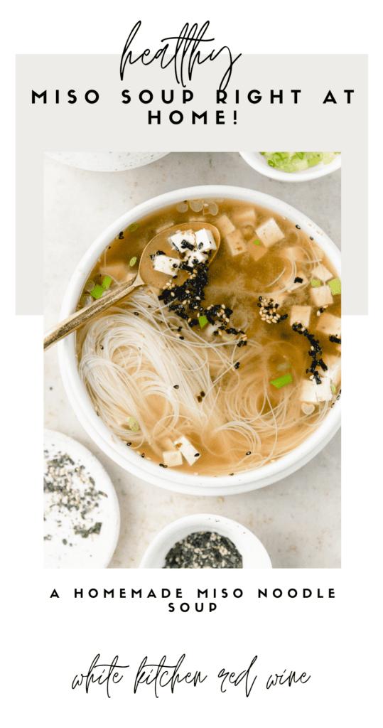 homemade miso soup pin image