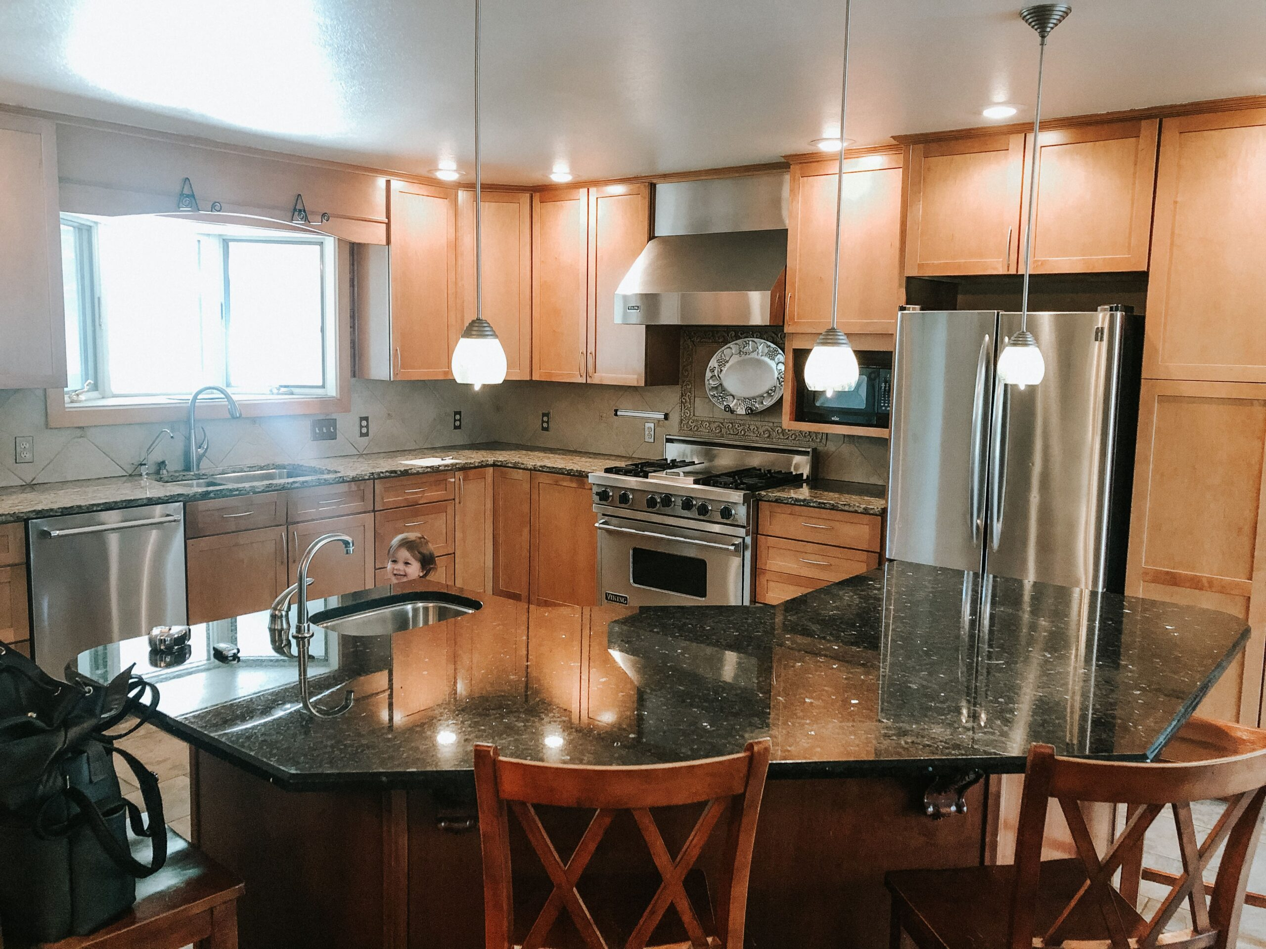 """brown maple kitchen """"before renovation"""" photo"""