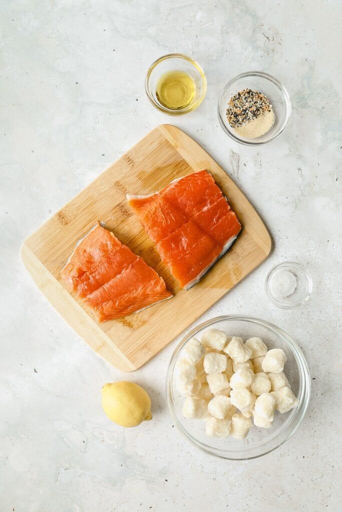 fried gnocchi salmon ingredients