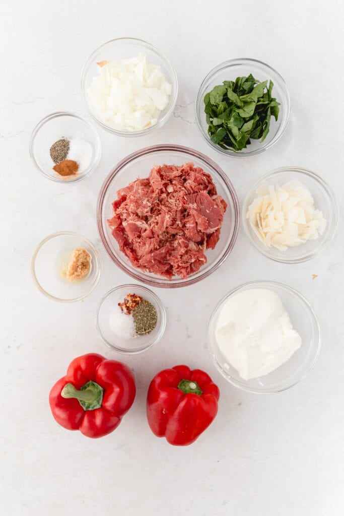 ingredients for ricotta stuffed peppers